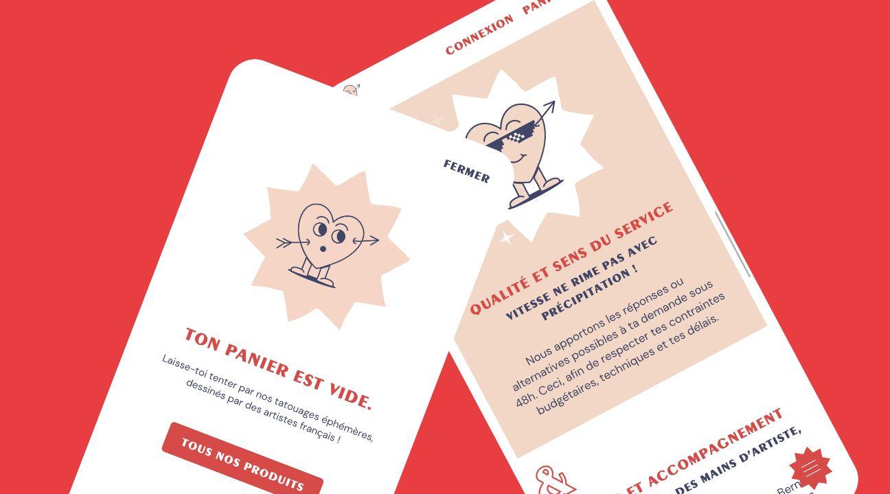 version mobile site e-commerce Bernard Forever