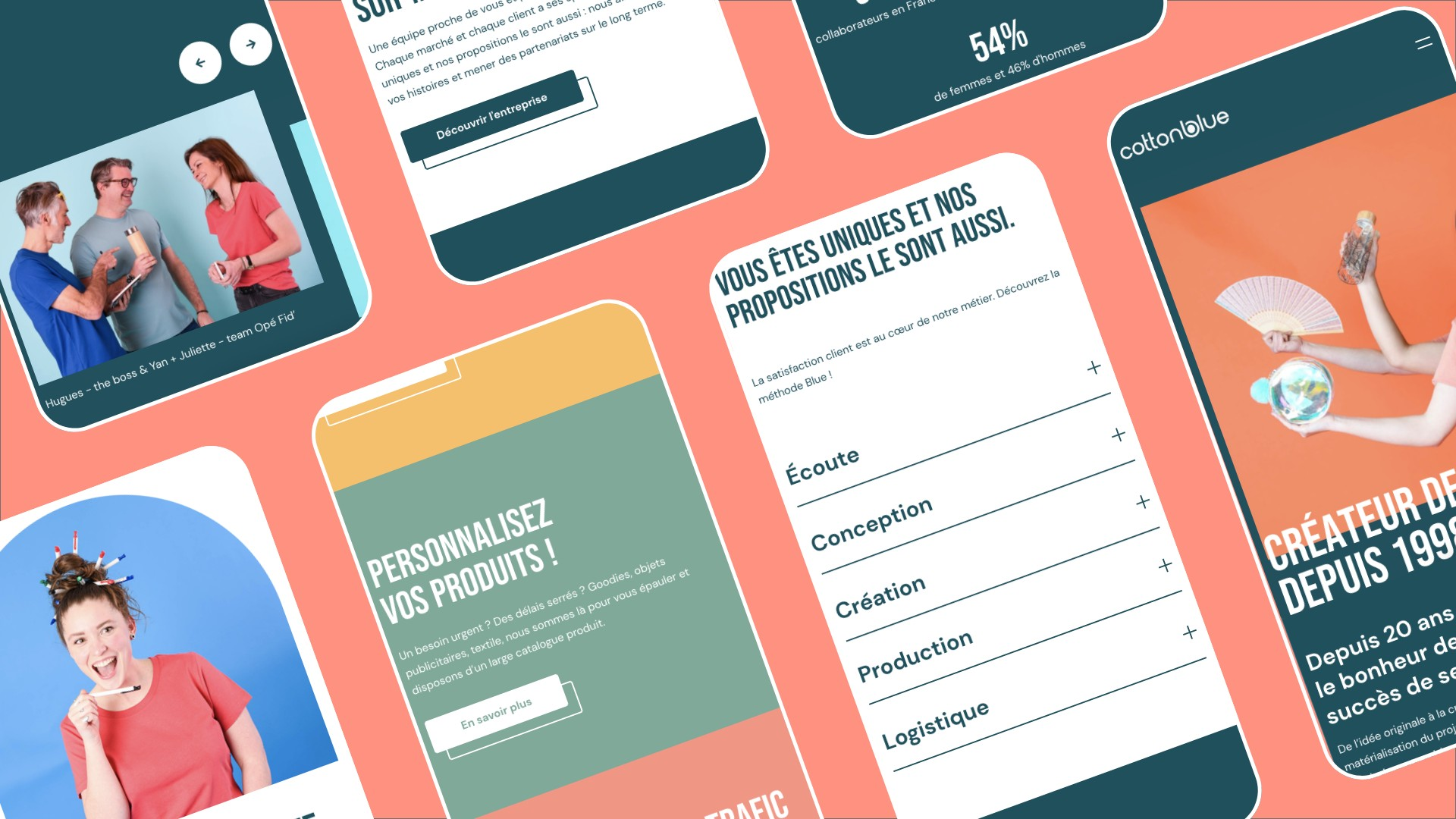 version mobile site web cotton blue