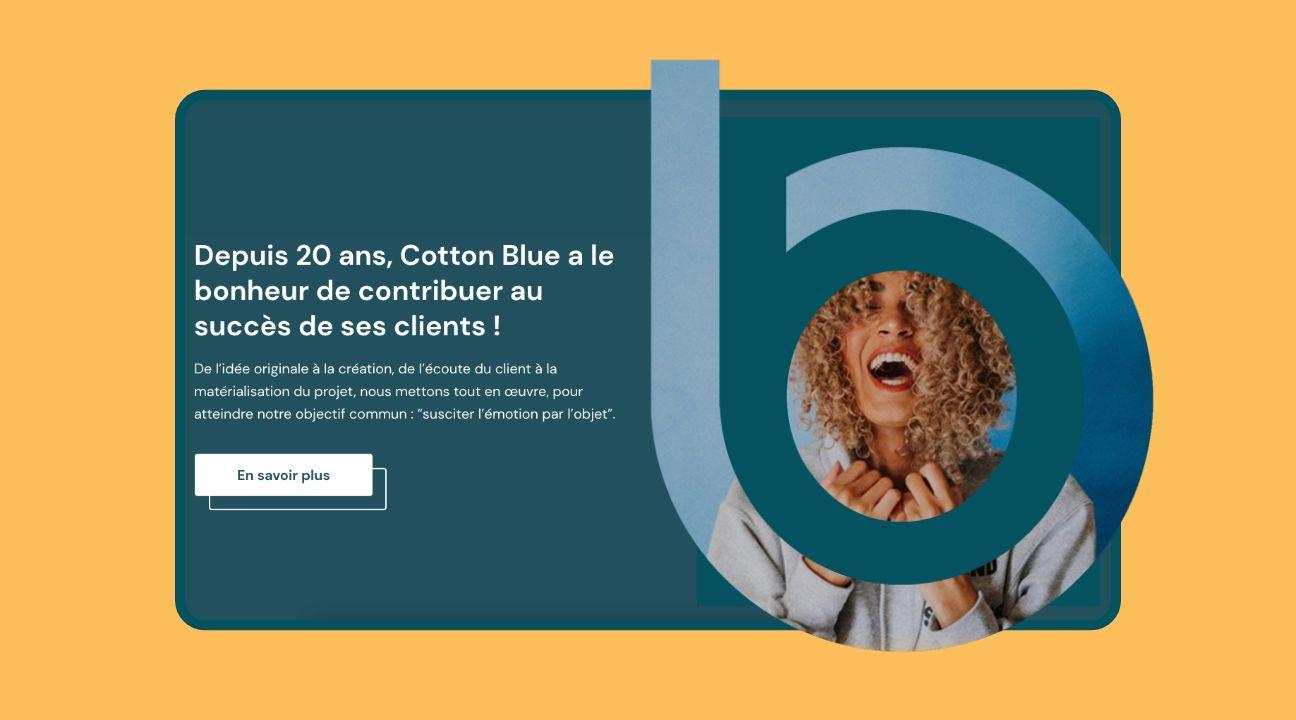 web design home page site cotton blue