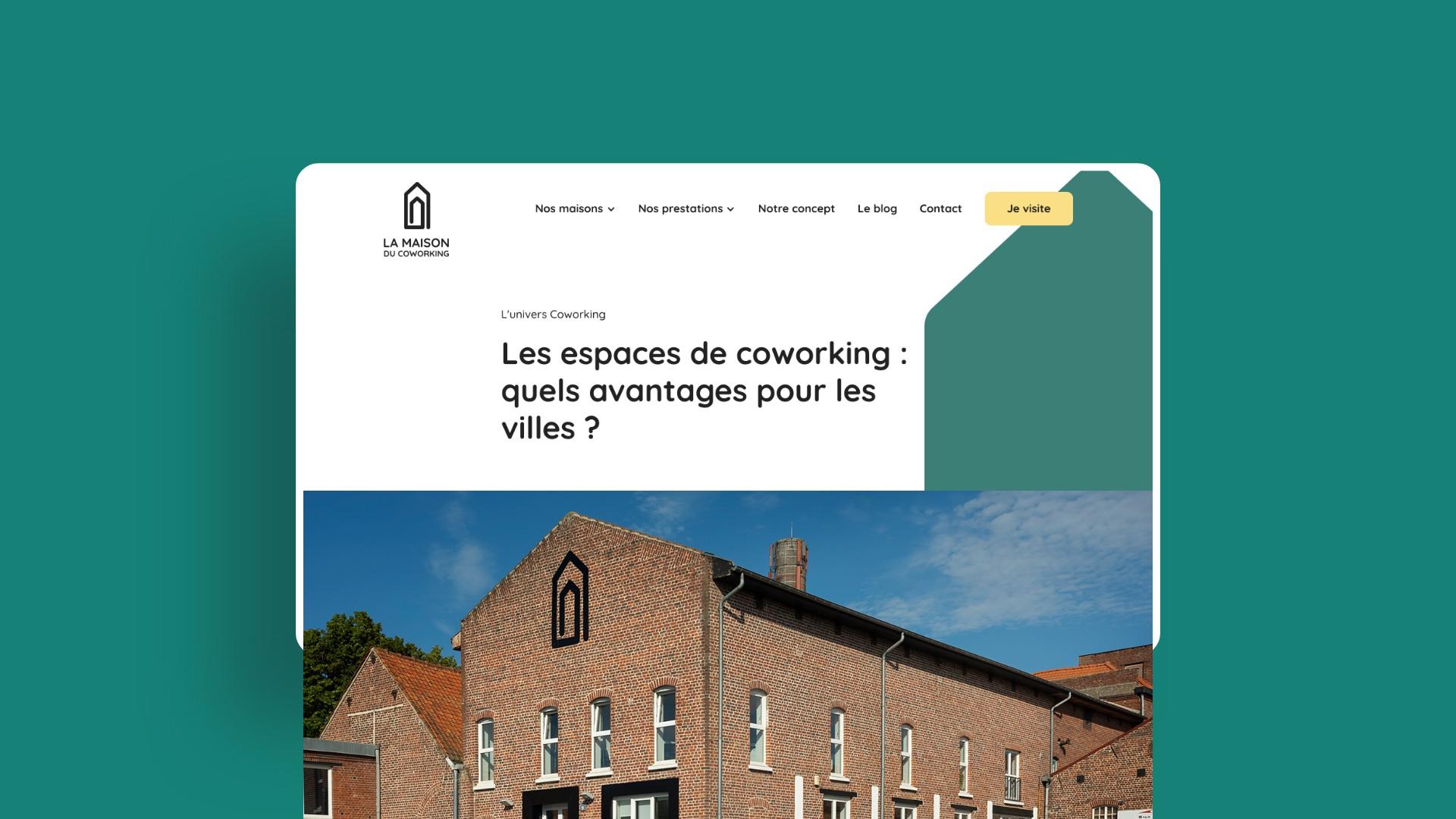 web design site réservation maison du coworking