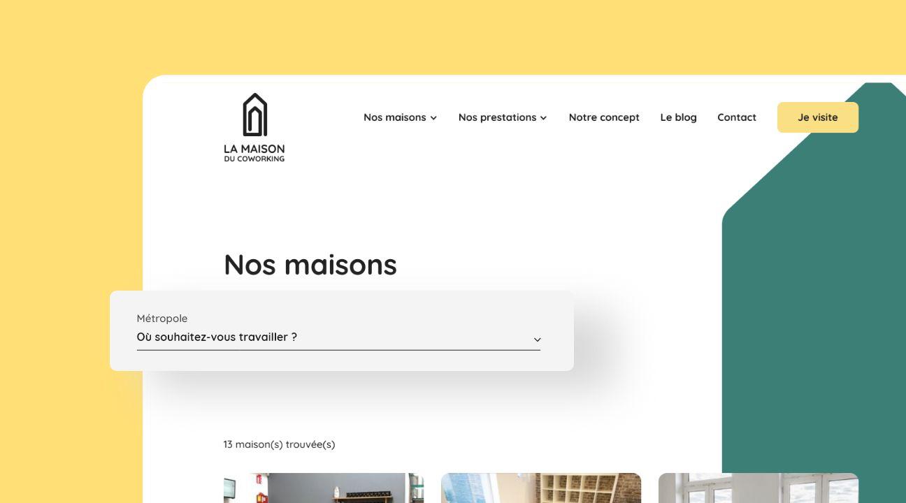 site web la maison du coworking