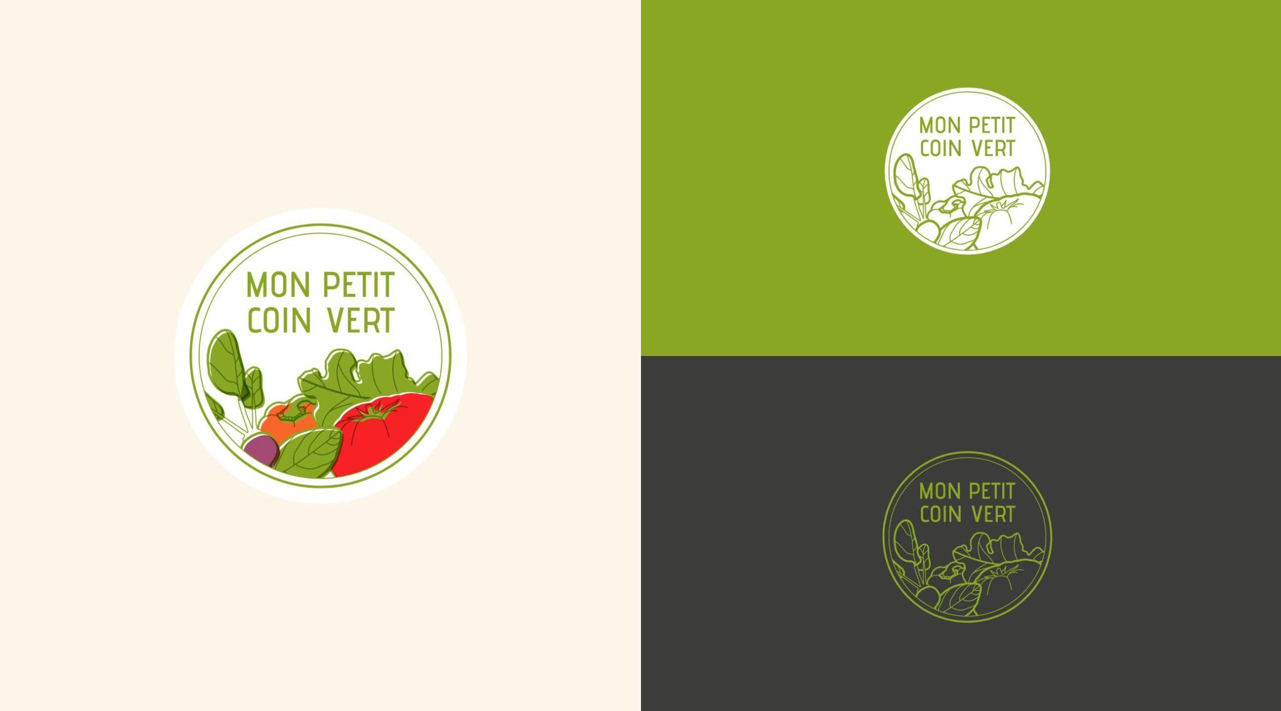 logo box de jardinage mon petit coin vert