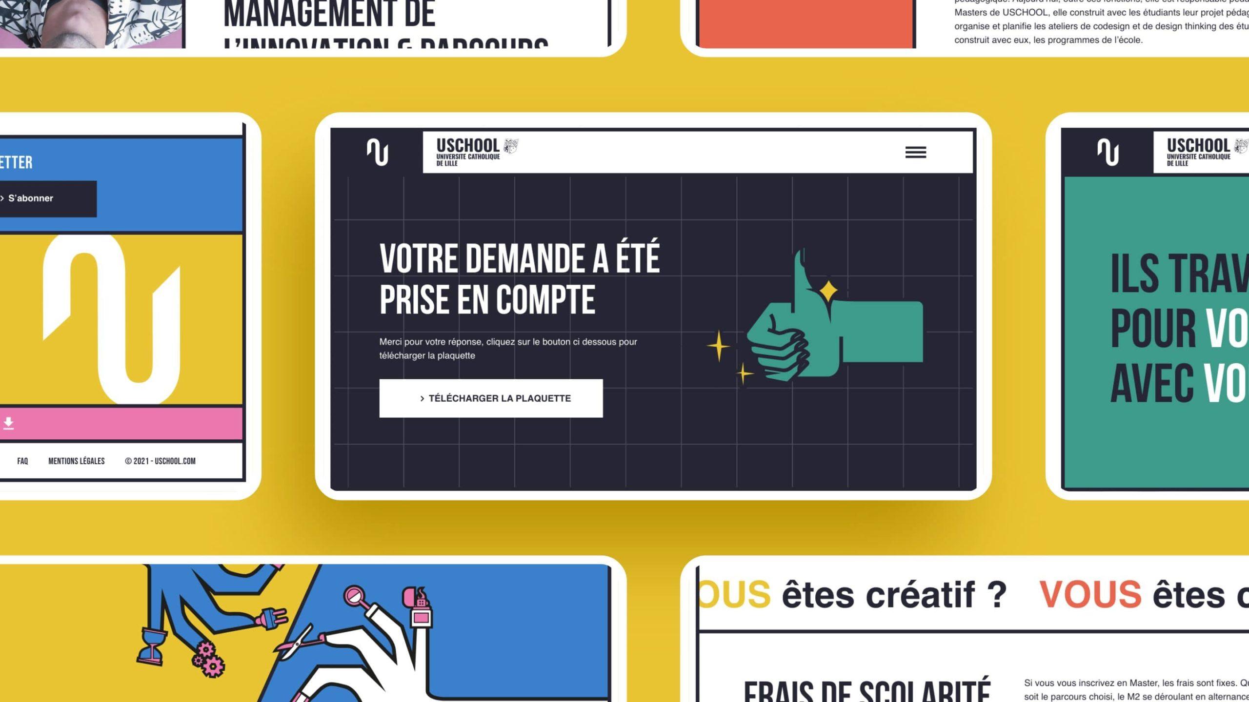 web design style brutalisme agence konfiture
